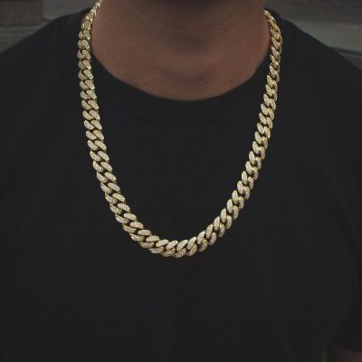 24k Gold Plated Miami Cuban Link Iced Out Choker